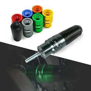 CNC Exhaust Sliders Anti Crash Pads Protector For Yamaha Xmax 250 Aerox Nmax155