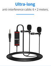 Mamen Vlogging Video Lavalier Dual Mic Microphone Smartphone KM-D1Pro