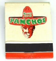 Vintage Pancho's Mexican Restaurant Tucson Arizona Matchbook Business Closed
