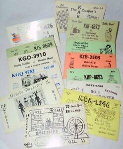 13 Original QSL Ham Radio ID and CB Cards Western Pennsylvania