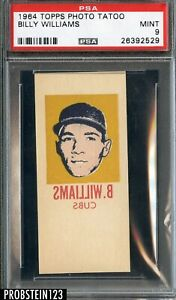 1964 Topps Photo Tattoos Tatoo Billy Williams Chicago Cubs HOF PSA 9 MINT