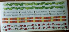 AUTUMN FALL APPLE HARVEST BORDER SCRAPBOOK STICKERS!!!! PERFECT FOR FALL PAGE!
