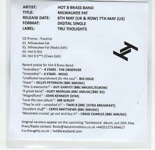 (EF647) Hot 8 Brass Band, Milwaukee Fat - 2013 DJ CD