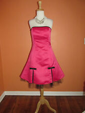 Jessica McClintock Gunne Sax Size 9/10 Hot Pink Satin Strapless Rockabilly Dress