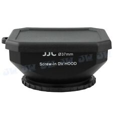 JJC 37mm Square Screw-in DV Camcorder Lens Hood + Cap + Strap for SONY JVC CANON
