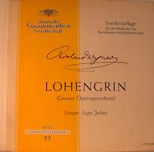 """LOHENGRIN - RICHARD WAGNER - EUGEN JACOB 12"""" LP (L110)"""