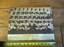 1969 NEW YORK METS WORLD CHAMPION TEAM PHOTO PLAQUE 11' X 14'