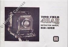 Toyo Field 45AII Instruction Manual for Large Format Camera, More Books Listed