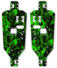 HPI MT2 Chassis Plate Protector Kit - Dark Green Flames - HPI Racing