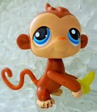 Littlest Pet Shop LPS Banana Monkey Blue Eyes Magnetic