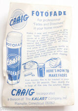 Craig Fotofade Movie Film Effect Fx Maker - by Kalart - Vintage D49
