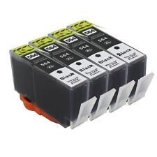 4 Black PK INK Cartridg For HP 564XL PhotoSmart 7510 7520 5510 5520 6510 printer