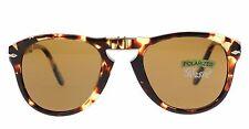 NWT Persol Sunglasses PO 714 985/57 Polarized Folding Tortoise / Brown 54 mm NIB
