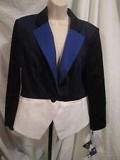 PETER PILOTTO Target Tuxedo Color Block Blazer Jacket Blue Black White Large NWT