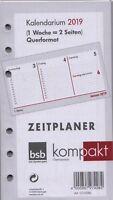 bsb kompakt A6 Kalender Einlage 2019 1Woche/2Seiten Horizontal Deutsch 02-0086
