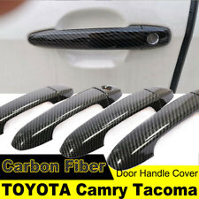 for TOYOTA CAMRY TACOMA DOOR Handle Cover Protector Carbon Fiber Mouldings Trim