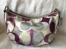 COACH Hand Drawn Mini Pochette Purse Bag Top Handle-VERY NICE
