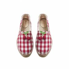 NEW NIB Bonpoint size 33 US size 1.5 ESPADRILLES LUCIA Knitted cherry Summer