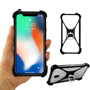 For Smart Phone Ring Holder Soft Silicone Case Protective Back Skin Cover Shell