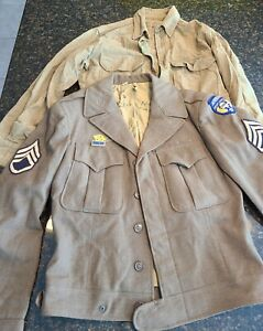 WWII Airborne Troop Carrier glider US Army IKE Jacket shirt named ruptured duck