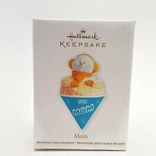 Hallmark Keepsake Christmas Ornament Snowman Snow Cone Mom 2012 Orange New