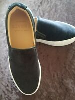 NEW GREATS BROOKLYN Wooster black  velvet Black slip-on loafers made in Italy