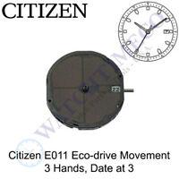 Genuine Citizen E011 Watch Movement Eco-Drive 3 Hands, Date at 3 Solar