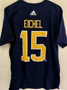 adidas  NHL T-Shirt Buffalo Sabres Jack Eichel Navy sz S
