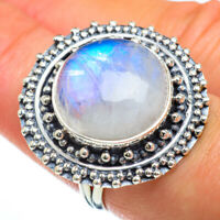 Large Rainbow Moonstone 925 Sterling Silver Ring Size 7.5 Ana Co Jewelry R44114F