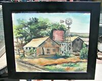 Original Watercolor, Listed Artist J. D. Purviance, California Plein Air, Framed