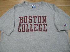vintage 90s BOSTON COLLEGE CHAMPION T-Shirt MED/LARGE eagles massachusetts thin