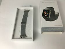 Platinum Magnetic Stainless Steel Mesh Band for Apple Watch 4 3 40mm 38mm SILVER