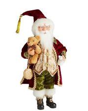 "Santa Claus Standing Figure Gold Burgundy Christmas Window Display 16"" Lg Doll"