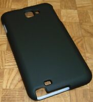 Rubber Coated BLACK Snapon Case Cover for Samsung Galaxy Note i717 i9220