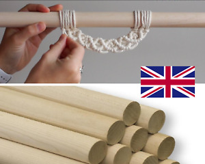 Wooden Craft Poles Sweet Tree Macrame Wall Hanging Tapestry Rod CUT TO SIZE