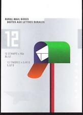Canada 2000 Booklet #226b Rural Mail Boxes, open flap with tab inscription