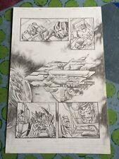 TRANSFORMERS original comic art GALACTIC COUNCIL SPACESHIP SPLASH, 2012 MAGNUS