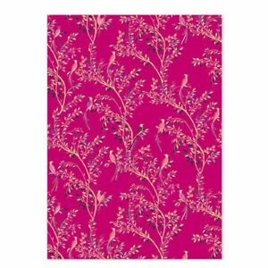Birds of Paradise Pink Luxury Gift Wrap Sheet - Sara Miller Wrapping Paper NEW