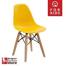 Replica Charles Eames DSW Kids Chair (Beech Wood Legs) - Yellow
