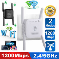AC1200 5G WiFi Repeater Wireless Extender Booster Router Dual Band Gigabit 2.4G