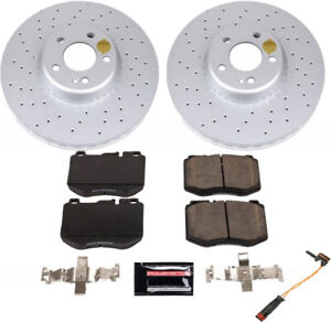 Brake Pad & Rotor/Disc Kit FRONT For for Mercedes Benz C300 C350E C400 Coated