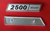 Sigla posteriore in alluminio 2500 Diesel per Fiat 132