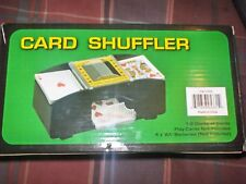 AUTOMATIC CARD SHUFFLER 1-2 DECKS OF CARDS 4AA BATTERIES NOT INCLUDED