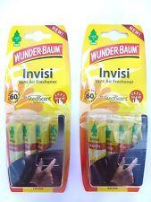 (5,30€/Einheit) 2 Stück WUNDER-BAUM® Invisi Vanille Vent Fresh Duft Vanilla