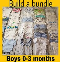 Baby Boys Babygrows Vests Bundles Age 0-3 Months INC Next