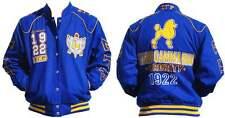 Sigma Gamma Rho Sorority Jacket Poodle S-GRHO Blue Sorority Race Jacket 1922