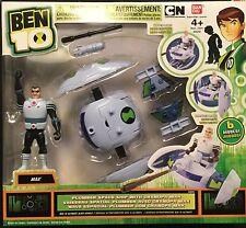 NEW! BEN 10 Grandpa Max & Plumber Space Ship vehicle action figure set Bandai