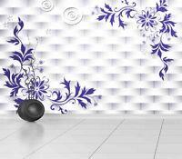 Elegant Embroidered 3D Full Wall Mural Photo Wallpaper Printing Home Kids Decor