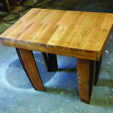 Recycled Wooden Solid Oak Whisky Barrel Rectangular Vintage Coffee Table
