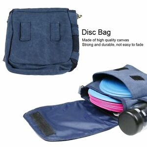 Disc Golf Bag Canvas Disc Golf Shoulder Bags Storage with Pocket Disc Sports Bag